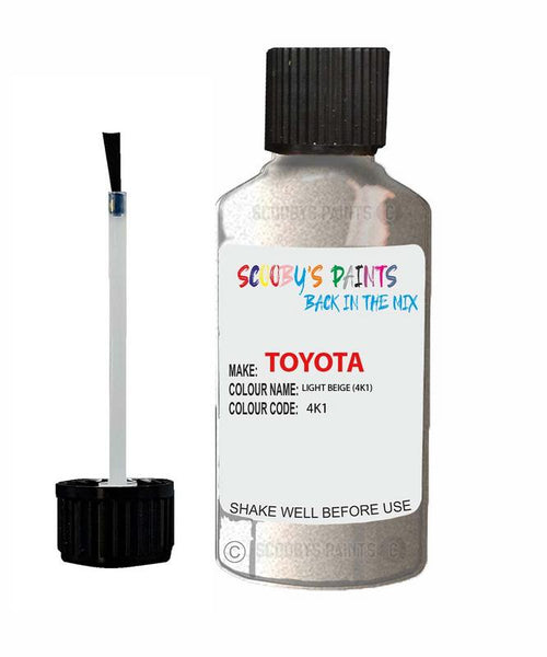 Toyota Car Touch Up Paint Light Beige 4K1 Scratch Repair Kit