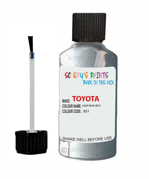 Toyota Car Touch Up Paint Light Blue 8S1 Scratch Repair Kit