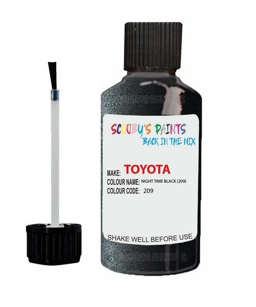Toyota Car Touch Up Paint Night Time Black 209 Scratch Repair Kit