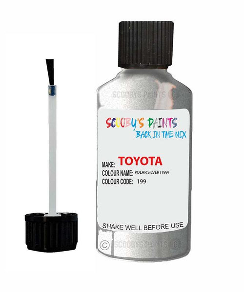 Toyota Car Touch Up Paint Polar Silver 199 Scratch Repair Kit
