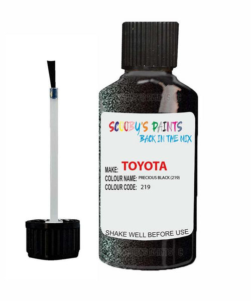 Toyota Car Touch Up Paint Precious Black 219 Scratch Repair Kit