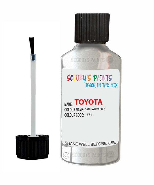 toyota gt86 satin white code 37j touch up paint 2012 2014 Scratch Stone Chip Repair