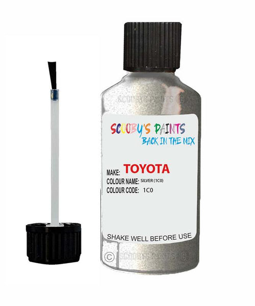 Toyota Car Touch Up Paint Silver 1C0 Scratch Repair Kit