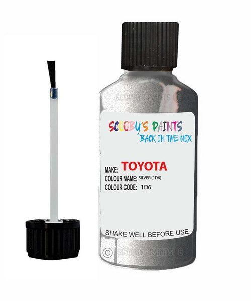 Toyota Car Touch Up Paint Silver 1D6 Scratch Repair Kit