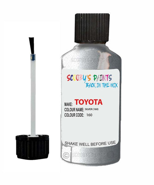 Toyota Car Touch Up Paint Silver 160 Scratch Repair Kit
