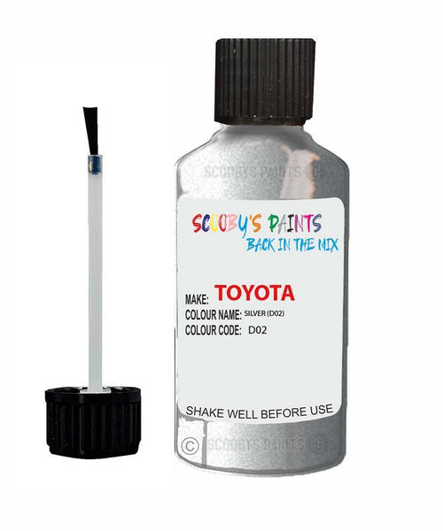 Toyota Car Touch Up Paint Silver D02 Scratch Repair Kit