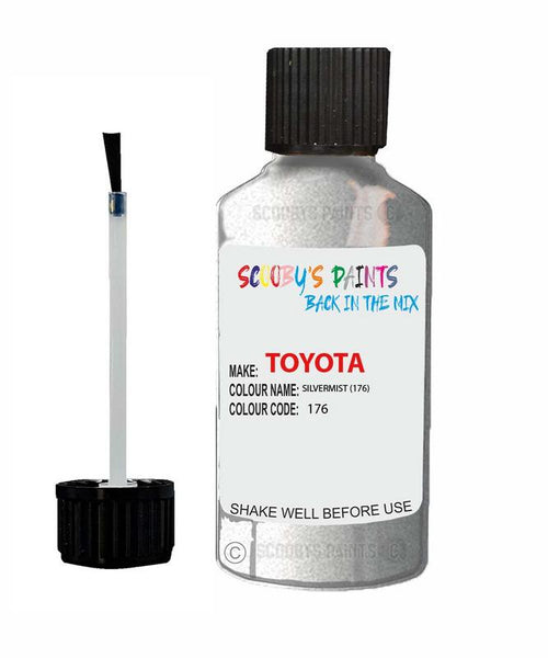 Toyota Car Touch Up Paint Silvermist 176 Scratch Repair Kit