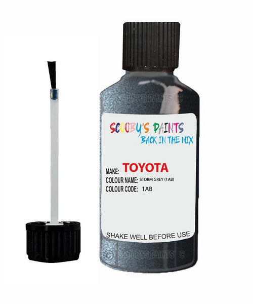 Toyota Car Touch Up Paint Storm Grey 1Ab Scratch Repair Kit