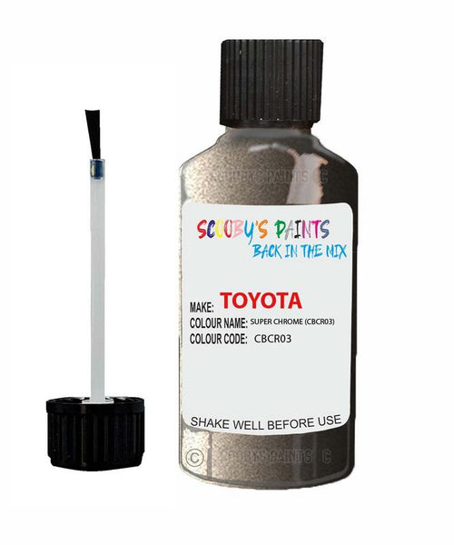 Toyota Car Touch Up Paint Super Chrome Cbcr03 Scratch Repair Kit