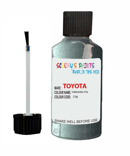 Toyota Car Touch Up Paint Turquoise 776 Scratch Repair Kit