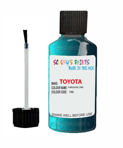 Toyota Car Touch Up Paint Turquoise 788 Scratch Repair Kit