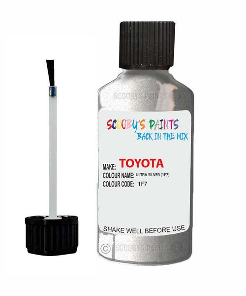 Toyota Car Touch Up Paint Ultra Silver 1F7 Scratch Repair Kit
