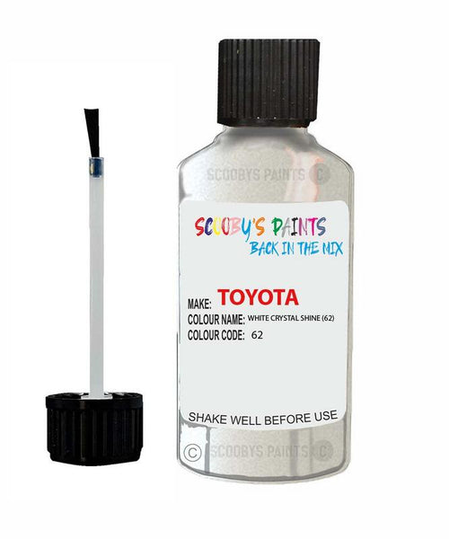 Toyota Car Touch Up Paint White Crystal Shine 62 Scratch Repair Kit