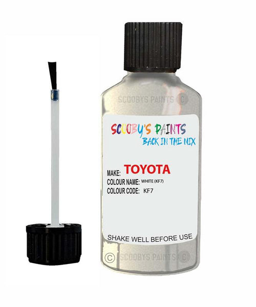Toyota Car Touch Up Paint White Kf7 Scratch Repair Kit