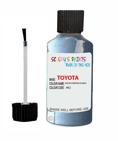 Toyota Car Touch Up Paint Wildflower Blue 8K2 Scratch Repair Kit