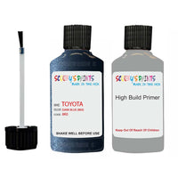Anti Rust High Build Undercoat Toyota Touch Up Paint With Primer Dark Blue 8K0