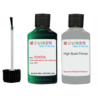 toyota verso dark reflective green code 6r4 touch up paint 1998 2015 Primer undercoat anti rust protection