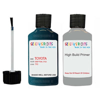 Anti Rust High Build Undercoat Toyota Touch Up Paint With Primer Deep Teal 752