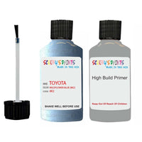 Anti Rust High Build Undercoat Toyota Touch Up Paint With Primer Wildflower Blue 8K2