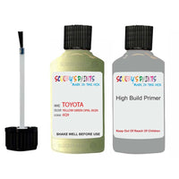 Anti Rust High Build Undercoat Toyota Touch Up Paint With Primer Yellow Green Opal 6Q9