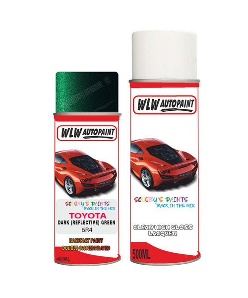 Toyota Yaris Verso Dark Reflective Green 6R4 Aerosol Spray Paint Can