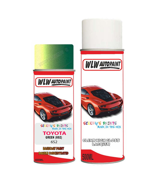 Toyota Yaris Verso Green 6S2 Aerosol Spray Paint Rattle Can