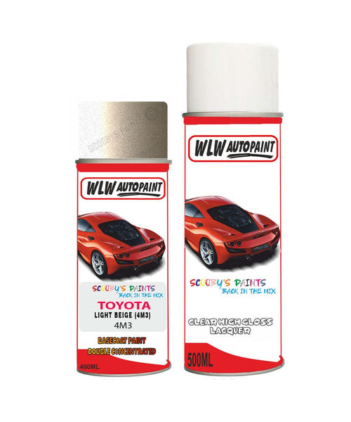 Toyota Carina Light Beige 4M3 Aerosol Spray Paint Rattle Can