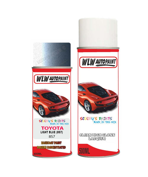 Toyota Corolla Light Blue 8S7 Aerosol Spray Paint Rattle Can