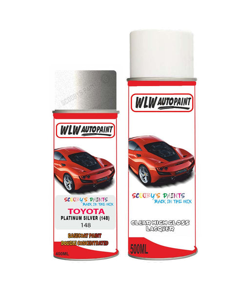 Toyota Camry Platinum Silver 148 Aerosol Spray Paint Rattle Can