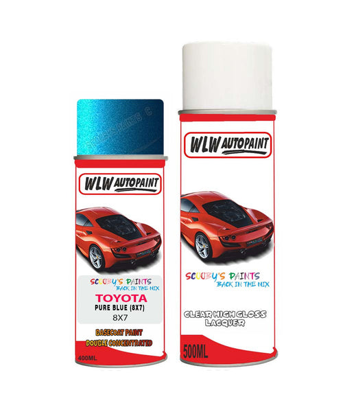 Toyota Rav4 Pure Blue 8X7 Aerosol Spray Paint Rattle Can
