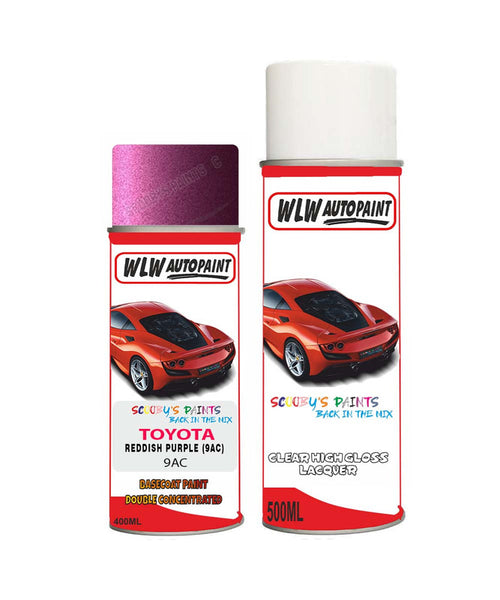 Toyota Camry Reddish Purple 9Ac Aerosol Spray Paint Rattle Can
