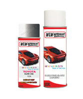Toyota Rav4 Silver 1D6 Aerosol Spray Paint Rattle Can
