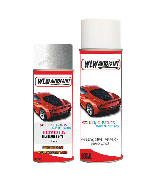 Toyota Camry Silvermist 176 Aerosol Spray Paint Rattle Can