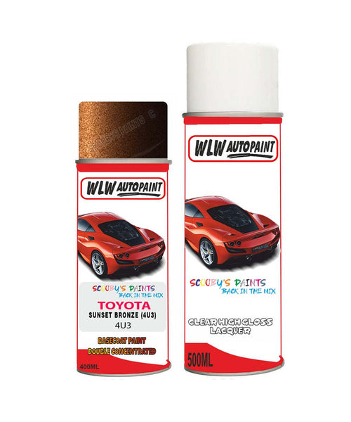 Toyota Avensis Touring Sunset Bronze 4U3 Aerosol Spray Paint Can