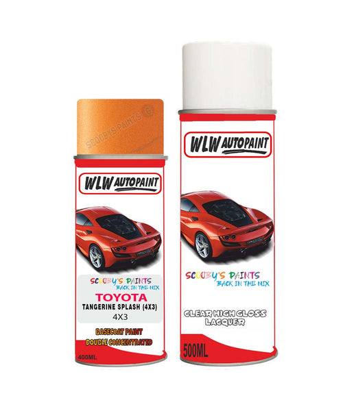 Toyota Prius Tangerine Splash 4X3 Aerosol Spray Paint Rattle Can