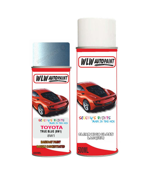 Toyota Corolla True Blue 8W1 Aerosol Spray Paint Rattle Can