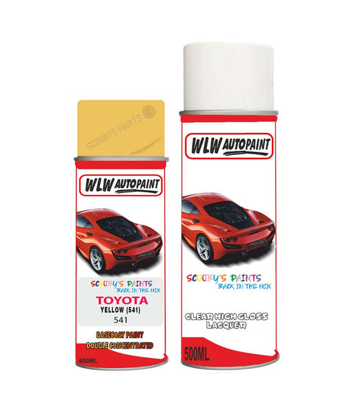 Toyota Celica Yellow (541) Aerosol Spray Paint And Lacquer 1990-2019