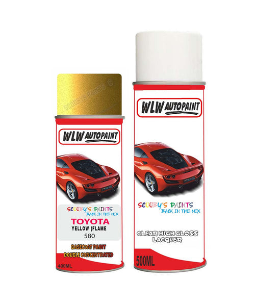 Toyota Verso Yellow (Flame Gold)/Mystic Gold (580) Aerosol Spray Paint And Lacquer 1999-2019