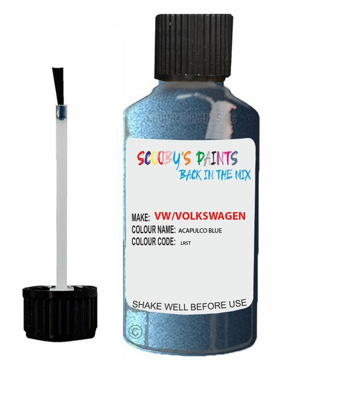 Vw Volkswagen Car Stone Chip Scratch Touch Up Paint Acapulco Blu