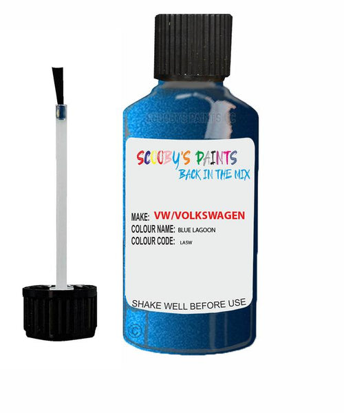 volkswagen polo fun blue lagoon code la5w touch up paint 1999 2019 Scratch Stone Chip Repair