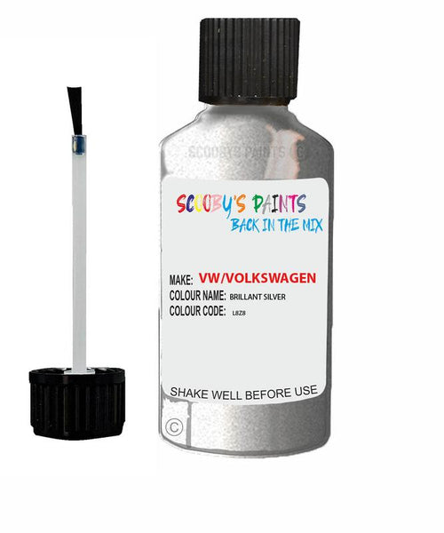 volkswagen polo fun brillant silver code l8z8 touch up paint 2004 2012 Scratch Stone Chip Repair