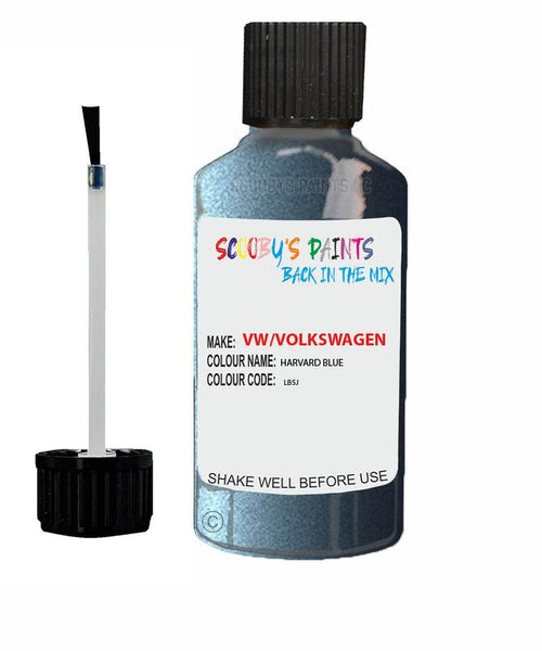 Vw Volkswagen Car Stone Chip Scratch Touch Up Paint Harvard Blue