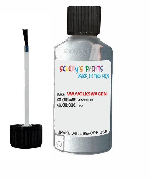 Vw Volkswagen Car Stone Chip Scratch Touch Up Paint Heaven Blue