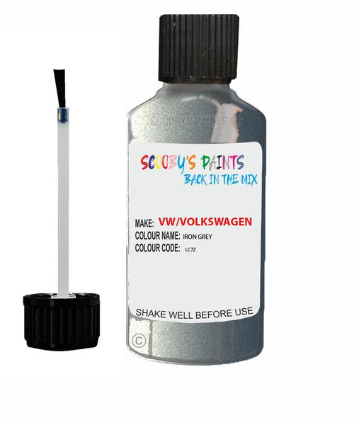 Vw Volkswagen Car Stone Chip Scratch Touch Up Paint Iron Grey