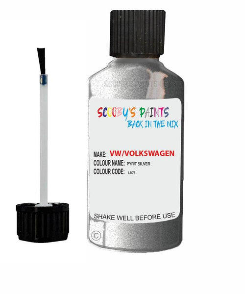 Vw Volkswagen Car Stone Chip Scratch Touch Up Paint Pyrit Silver