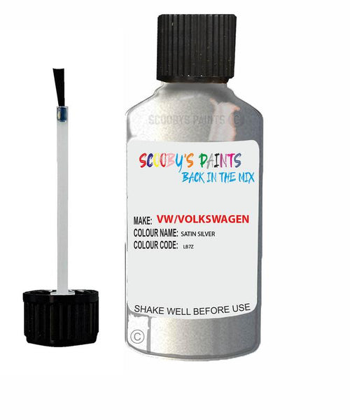 Vw Volkswagen Car Stone Chip Scratch Touch Up Paint Satin Silver