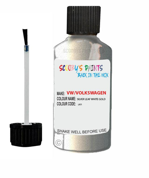 Vw Volkswagen Car Stone Chip Scratch Touch Up Paint Silver Leaf