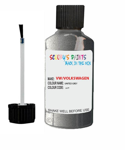 Vw Volkswagen Car Stone Chip Scratch Touch Up Paint United Grey