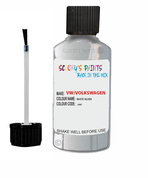 Vw Volkswagen Car Stone Chip Scratch Touch Up Paint White Silver
