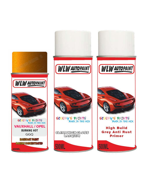 VAUXHALL AMPERA-E BURNING HOT Spray Paint + Anti Rust Primer Undercoat